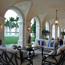 Mediterranean Patio by Dorlom Construction