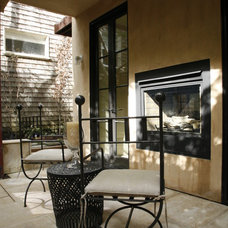 Transitional Patio by Candace Barnes