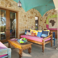 Eclectic Patio by Astleford Interiors, Inc.