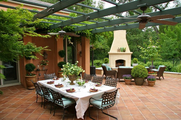 Mediterranean Patio by CLK Construction