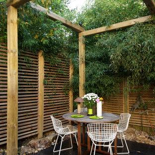 Idee per un patio o portico etnico con una pergola