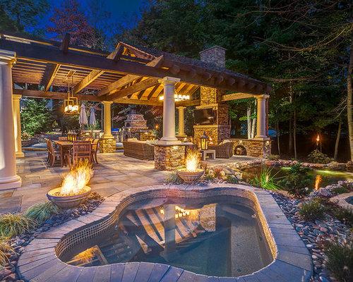 photos et id es d co de terrasses montagne avec un point d 39 eau. Black Bedroom Furniture Sets. Home Design Ideas