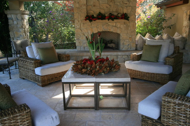 Traditional Patio Atherton Holiday House Tour