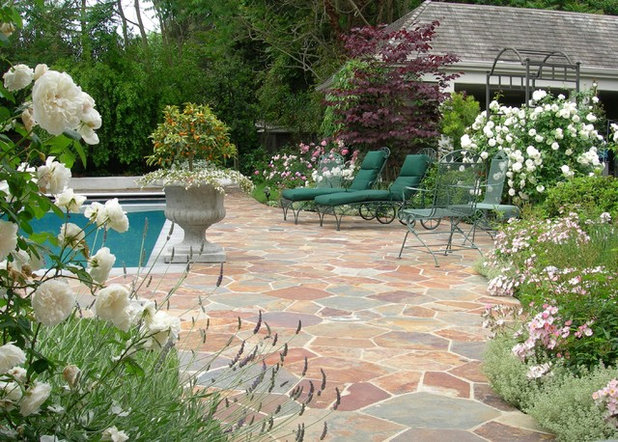 Traditional Patio by Zeterre Landscape Architecture