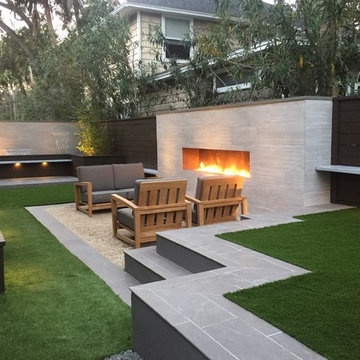 Atlantic Beach Contemporary Compact Backyard