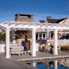 Beach Style Patio by Patrick Ahearn Architect