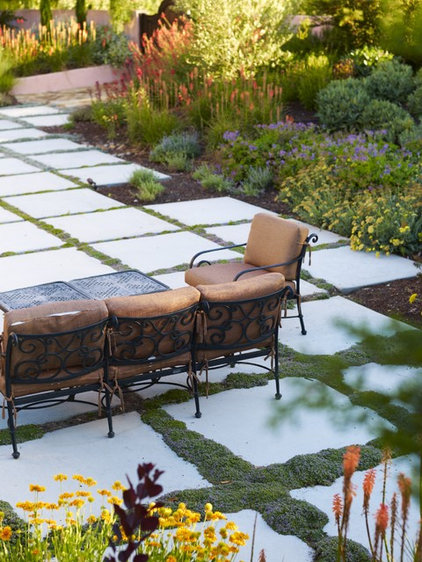 mediterranean patio by Jeffrey Gordon Smith Landscape Architecture
