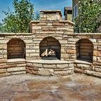 Custom Summer Kitchen Featuring Wood Burning Pizza Oven