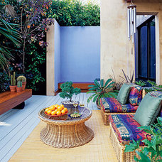 Tropical Patio Back deck and hot tub ideas