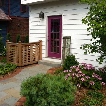 Back Door Entry with Screened AC Unit