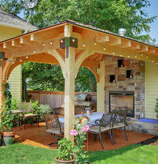 contemporary patio Back yard Gazebo