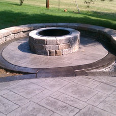 Traditional Patio by T & H Foundations and Concrete Services