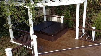 Backyard Deck with Pergola