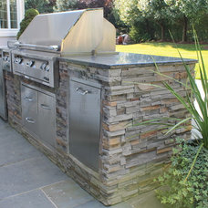 Transitional Patio by Fiducia Home Builders and Design, Inc.