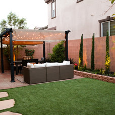 Transitional Patio by Krystina Hollenbeck for HiLuXeLifestyle