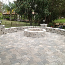 Traditional Patio by A Better Paver