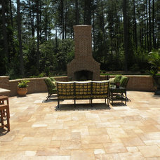 Traditional Patio by EMK CONSTRUCTION, INC.