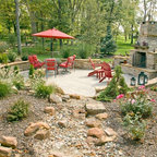 Pocket Garden Traditional Patio Portland Maine By