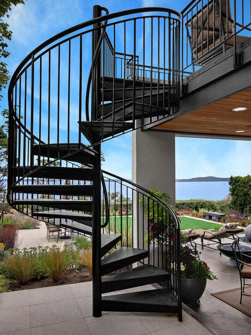 Outdoor Spiral Staircase   Houzz
