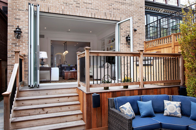 Transitional Patio by TZS Design