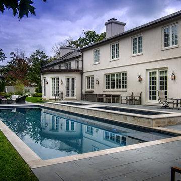 Backyard Patio with Pool, Spa & Swim Spa