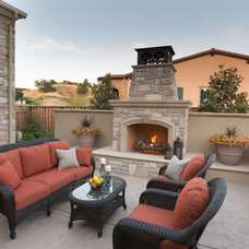 Mediterranean Patio by Environmental Foresight, Inc.