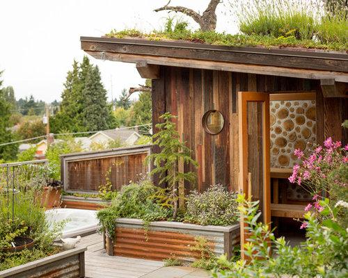 Backyard Sauna And Shower
