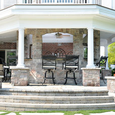 Traditional Patio by North Star Stone