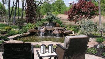 Backyard Waterfalls Into Ponds