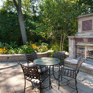 Stone Gas Fireplace   Houzz on Colao & Peter Luxury Outdoor Living id=19281