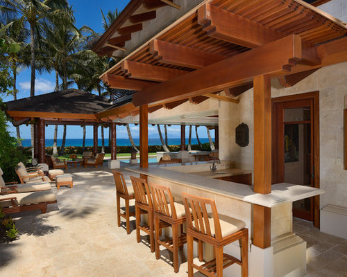 48 Tropical Outdoor With A GazeboCabana Design Ideas Stylish Simple Tropical Outdoor Kitchen Designs