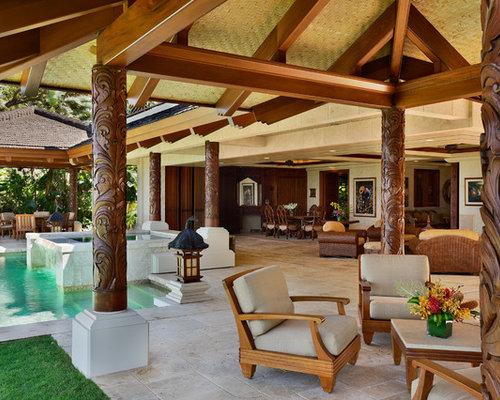 ethno motiven einrichtungsidee terrasse galeazzo