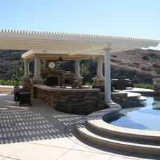 Mediterranean Patio by All Pro Builders Inc.