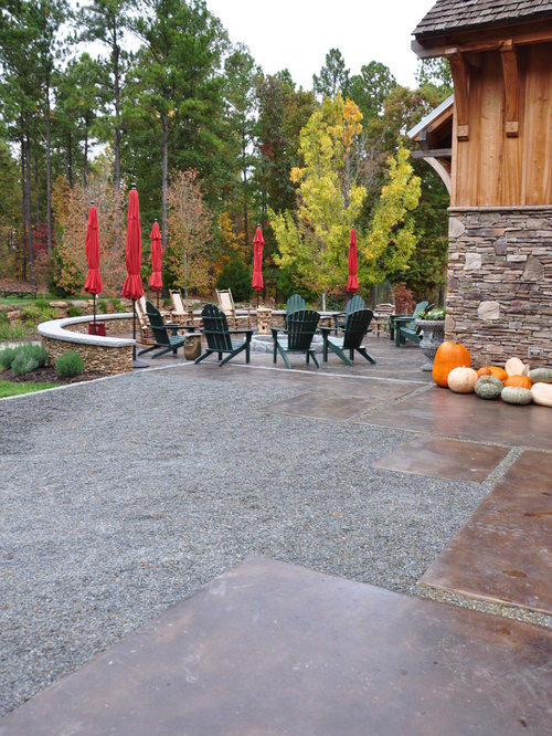 Inspiration For A Traditional Landscaping In Other With A Fire Pit.