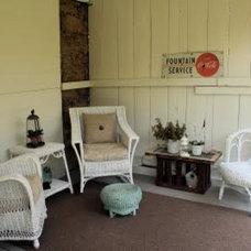 Eclectic Patio Barn Patio