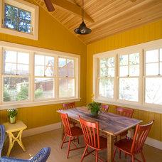 Farmhouse Patio by Phinney Design Group