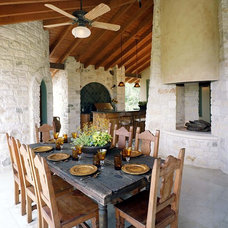 Rustic Patio by Katz Builders, Inc.