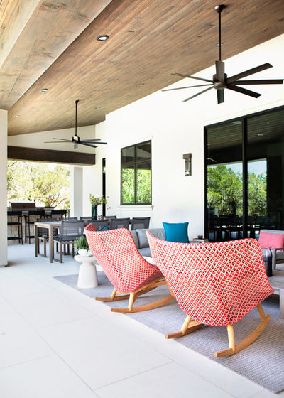 Transitional Patio by Etch Design Group