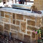 Indoor Outdoor Bar Rustic Patio Dallas By Wright Built