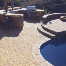 Mediterranean Patio by Swink's Creations