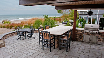 Beachfront Patio Installation with Outdoor Kitchen