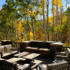 Traditional Patio by CHC Mountain Structures