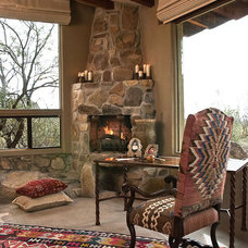 Eclectic Patio by Linda Robinson Design Associates