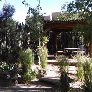 Inspiration for a southwestern patio remodel in Albuquerque