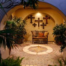 Mediterranean Patio by James Glover Residential & Interior Design