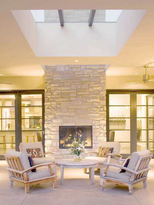 Indoor Outdoor Fireplace | Houzz