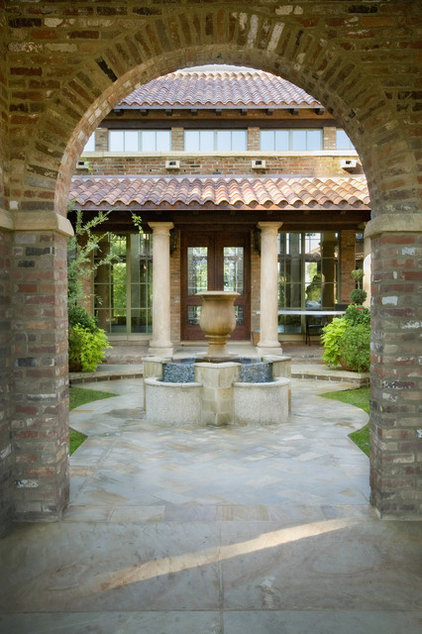 Mediterranean Patio by Norris Architecture