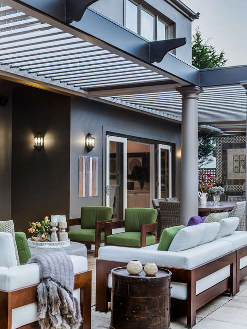 Eclectic outdoor design ideas renovations photos with a for Pergola images houzz