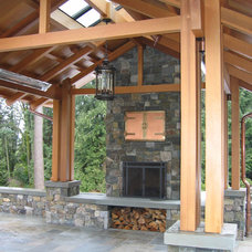 Traditional Patio by Goforth Gill Architects