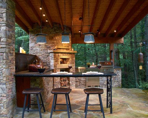 Houzz | Rustic Patio Design Ideas, Remodels & Photos on Houzz Backyard Patios id=77006